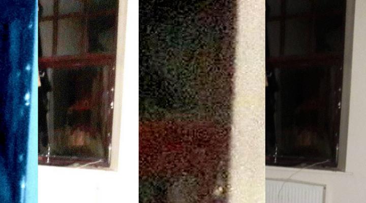 Strange images in window